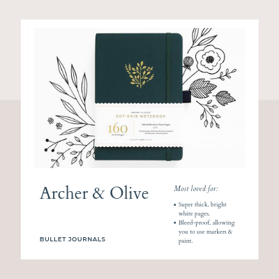 archer & olive singapore clarke quay bullet journals gift ideas