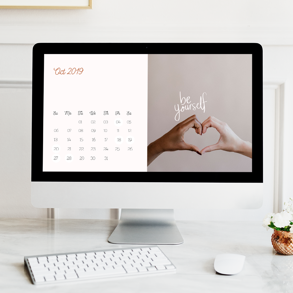 FREE! October Wallpaper - Make calendar-checking a breeze with our free desktop wallpaper which doubles up as a daily reminder to be true to yourself.