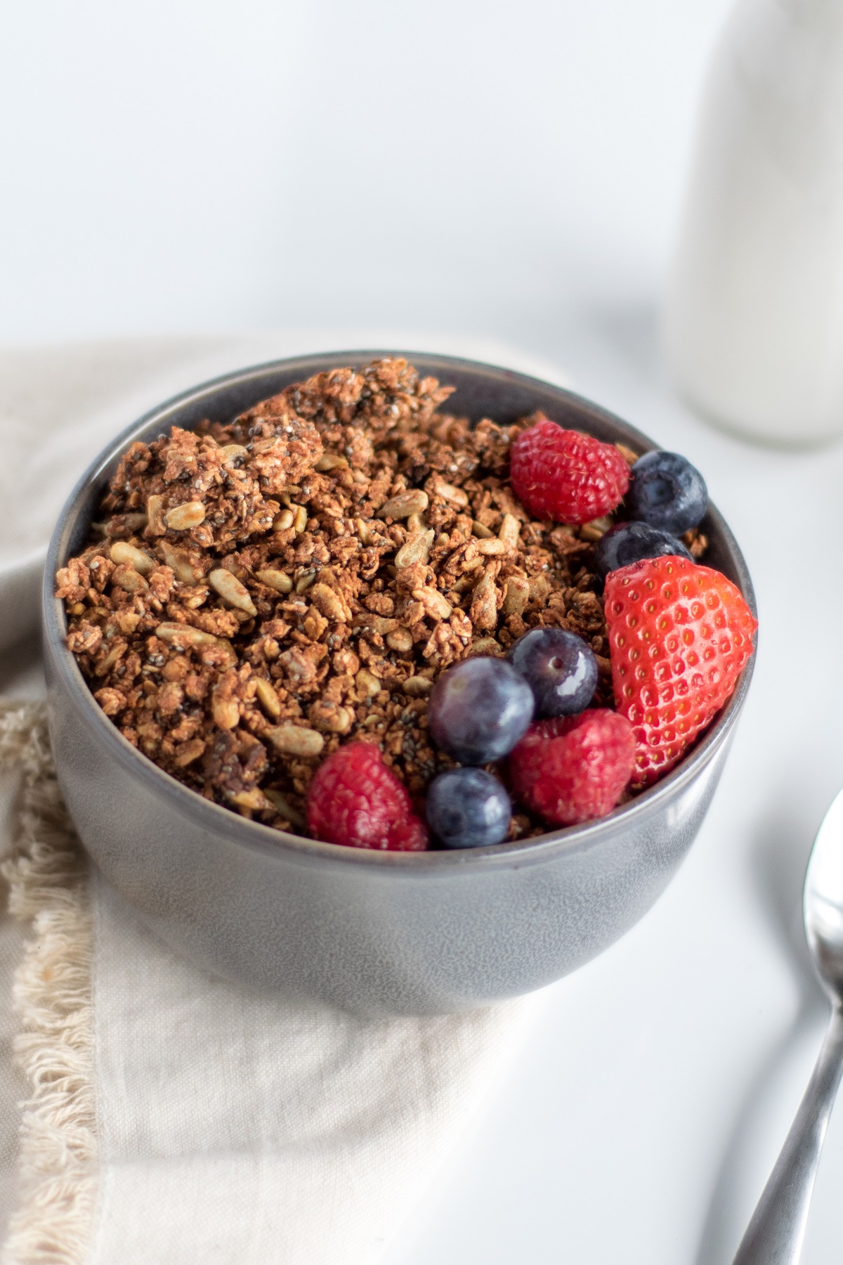 Simple & Clean Cinnamon Granola | shutupeatthis.com