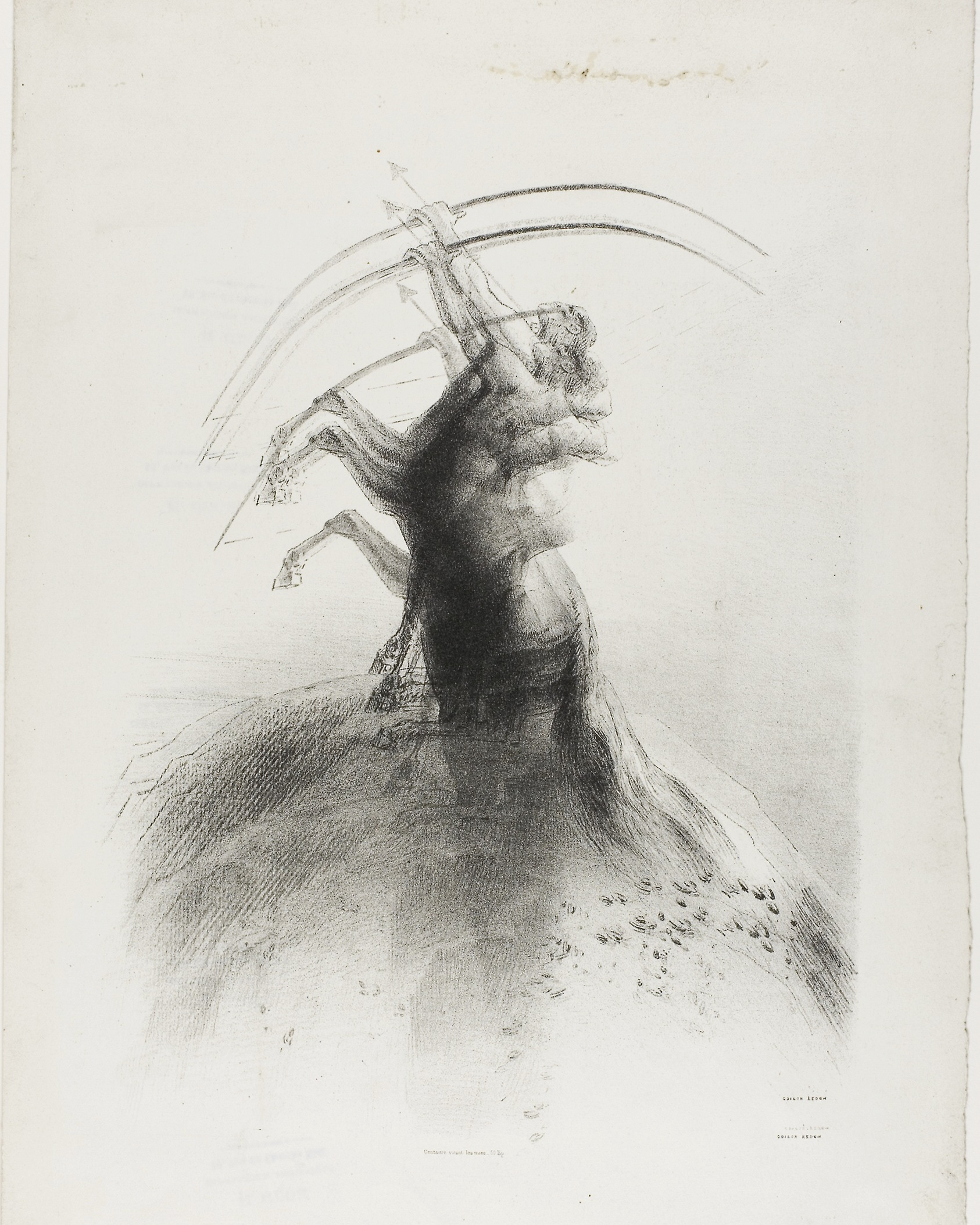 Odilon Redon, Centaur Taking Aim at the Clouds, 1895, AIC