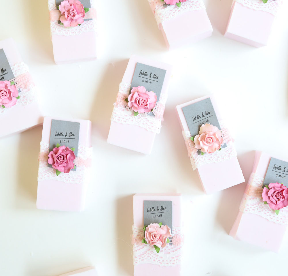 EASY DIY WEDDING SOAP FAVORS - WRITTEN FOR MICHAELS