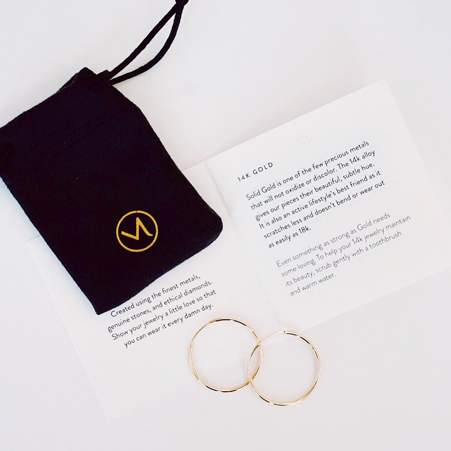 Mejuri - large solid gold hoops
