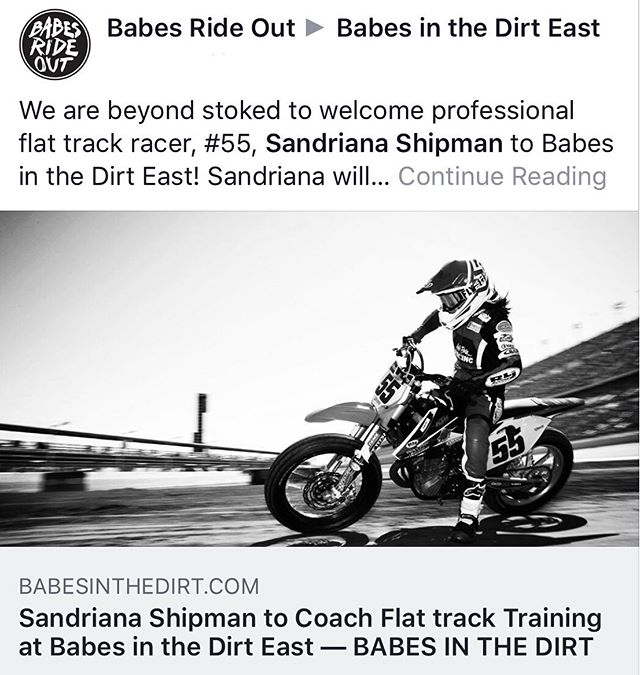 Attn Ladies!! Who's coming out to ride and train with @motoanatomy_ and me!? Check out the event at @babesinthedirt .com