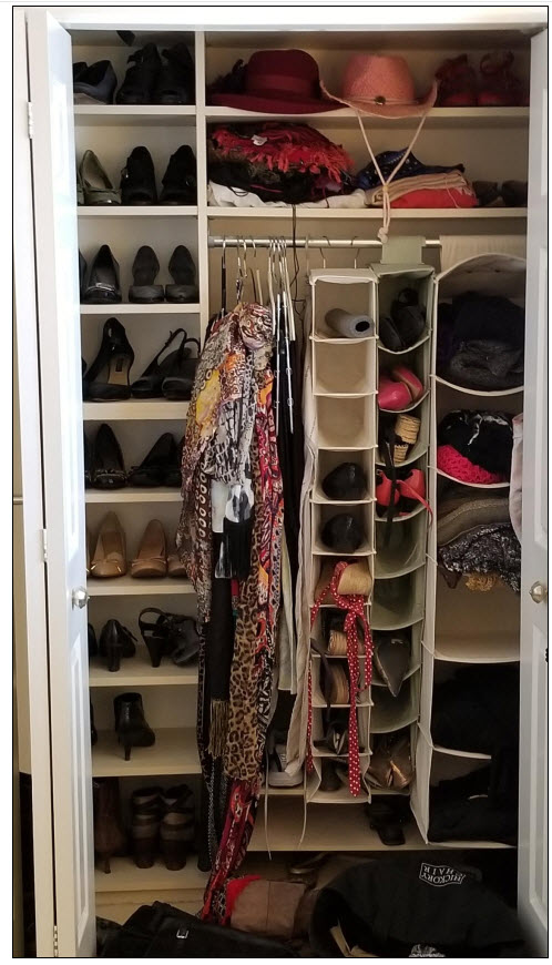 Here is my shoe and sweater area...yikes!