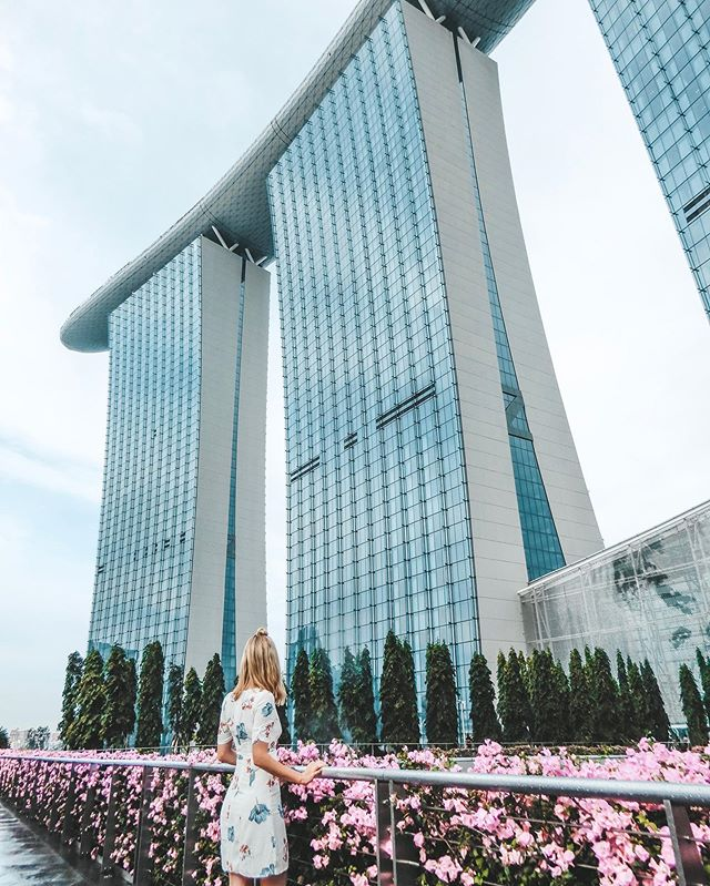 I was talking to a friend about Singapore today; such a beautiful city. I've never been somewhere so clean, with such impressive structures just jutting out here and there... . . #marinabaysands #singapore #flowers #architecture #impressivebuildings #sheisnotlost #stopover #globehopper #travelgirls #florals #southeastasia #beautifulcities #beautifulplaces #explore