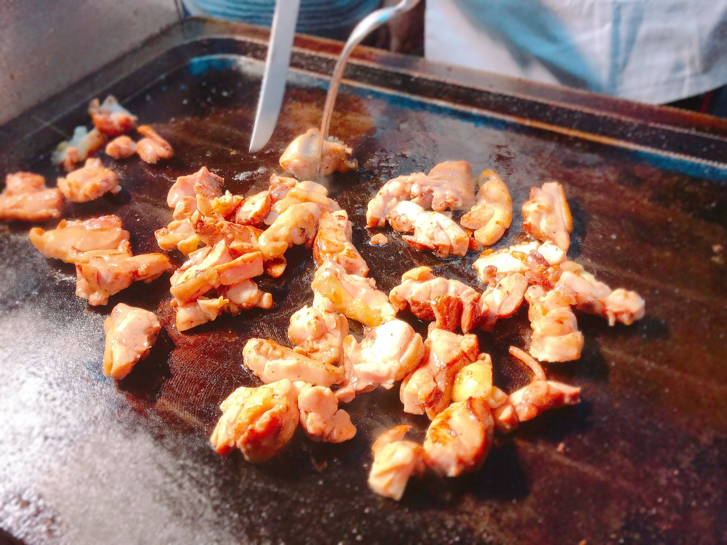 cheese chicken at ningxia night market