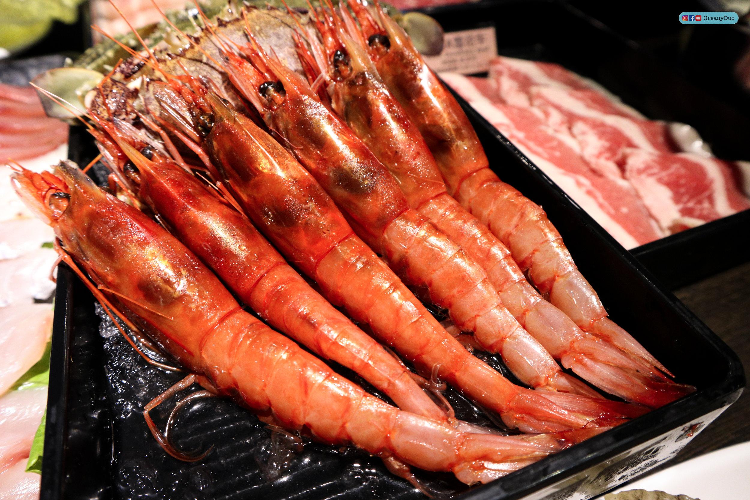 special shrimps at บุฟเฟ่ต์ชาบูไต้หวันที่ Hakkai Shabu Shabu ซีเหมินติง