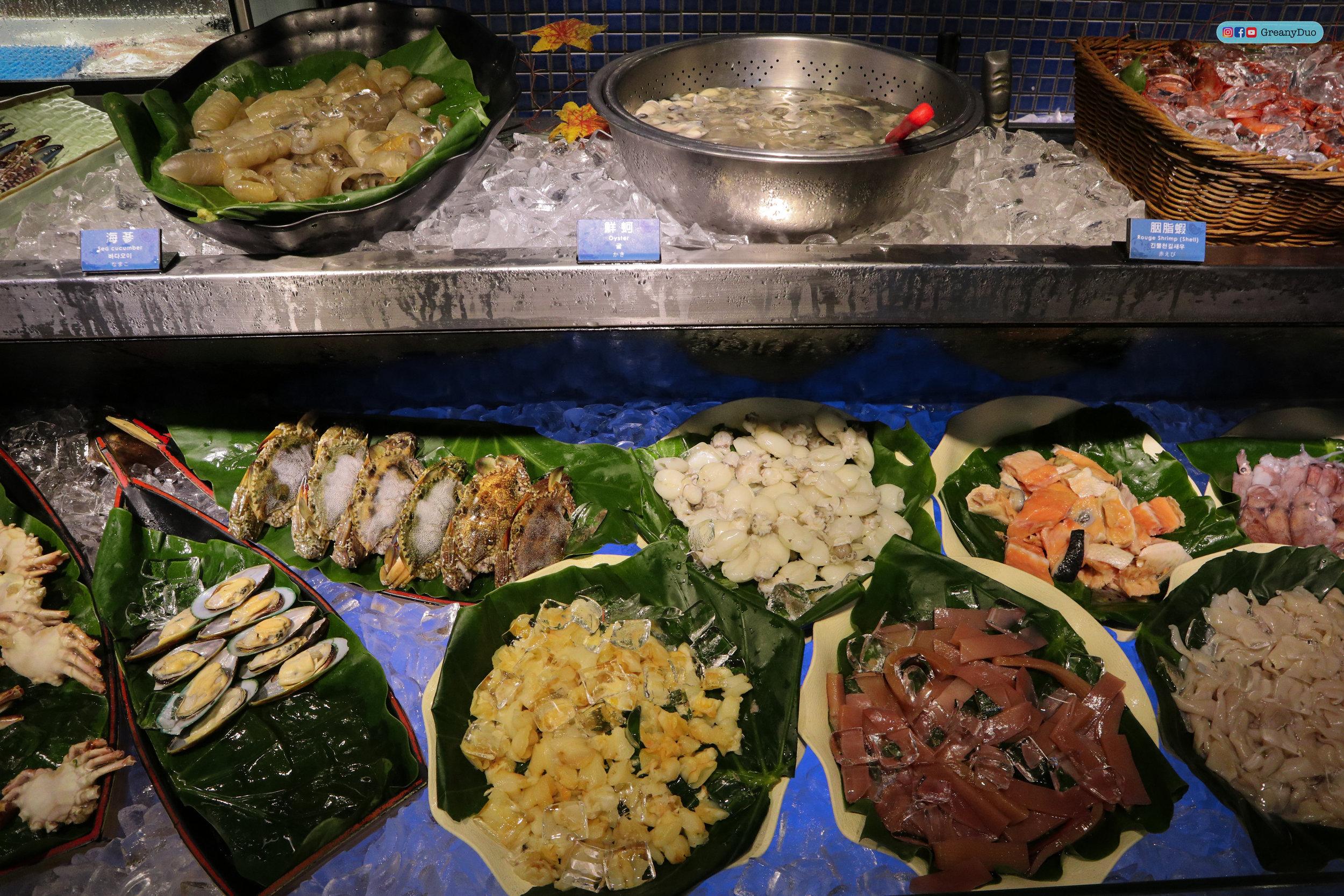 seafood bar at บุฟเฟ่ต์ชาบูไต้หวันที่ Hakkai Shabu Shabu ซีเหมินติง