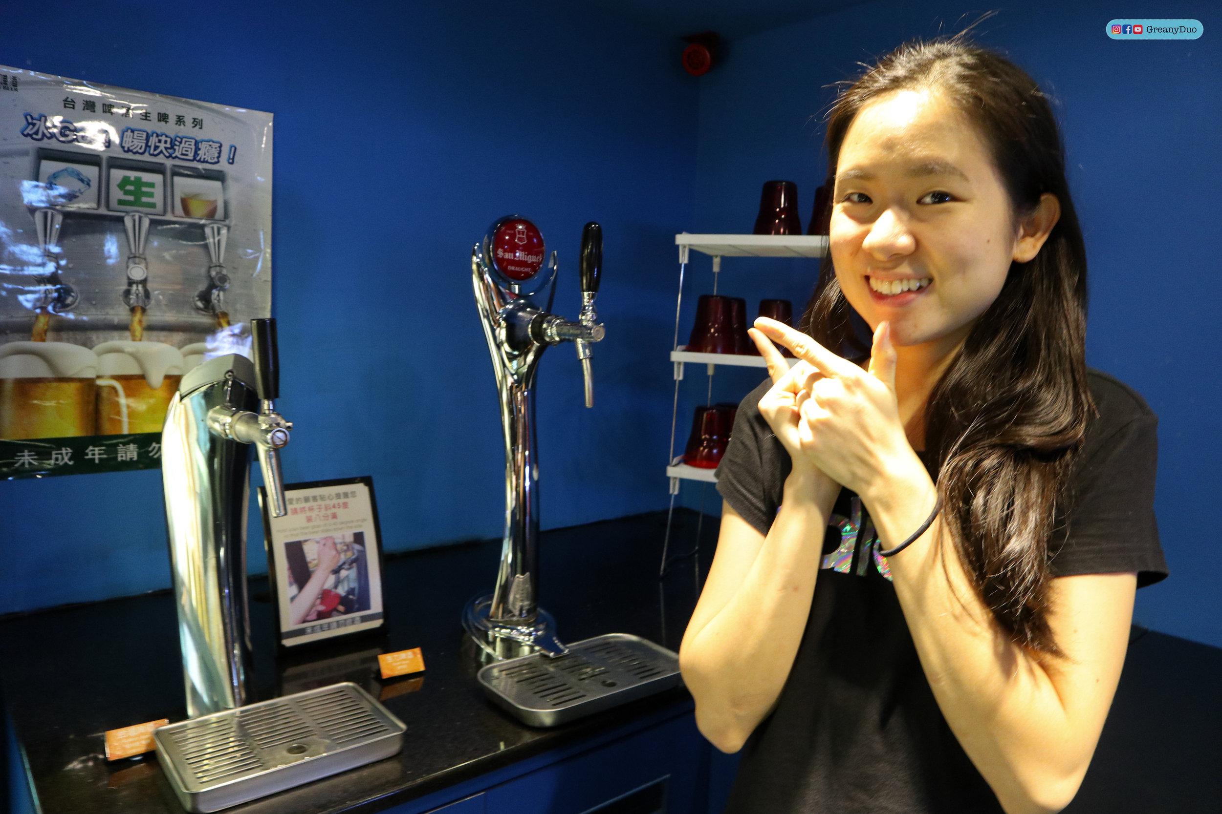 beer bar at บุฟเฟ่ต์ชาบูไต้หวันที่ Hakkai Shabu Shabu ซีเหมินติง