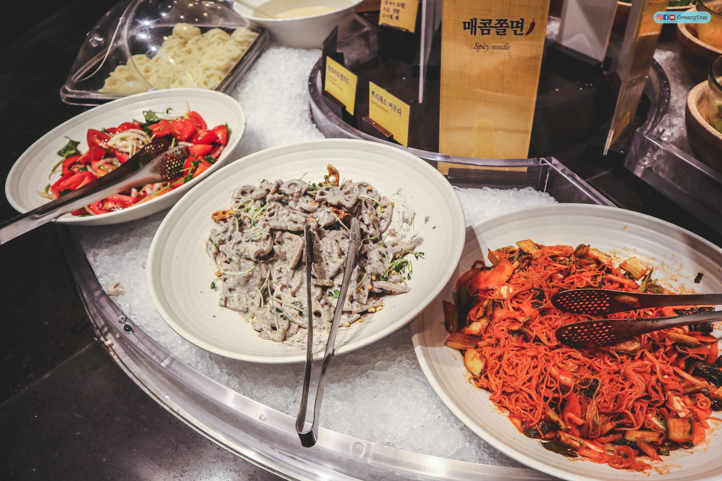 salad bar, nature kitchen buffet, seoul korea