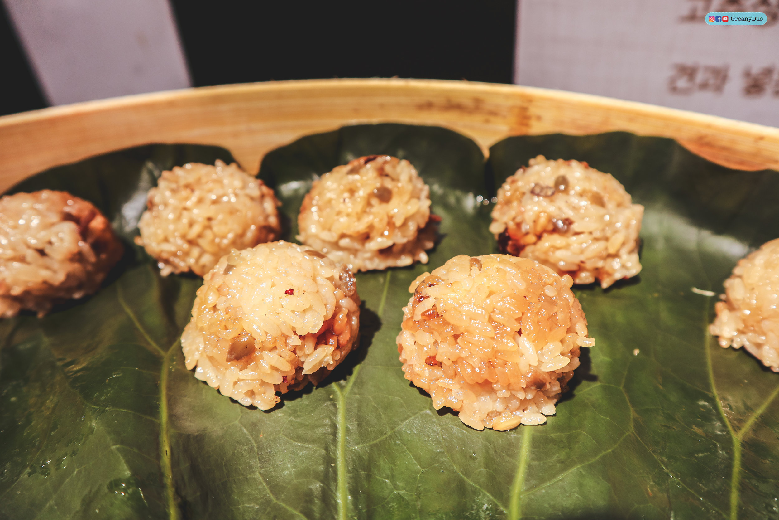 rice wrapped in lotus leaves, nature kitchen buffet, seoul korea