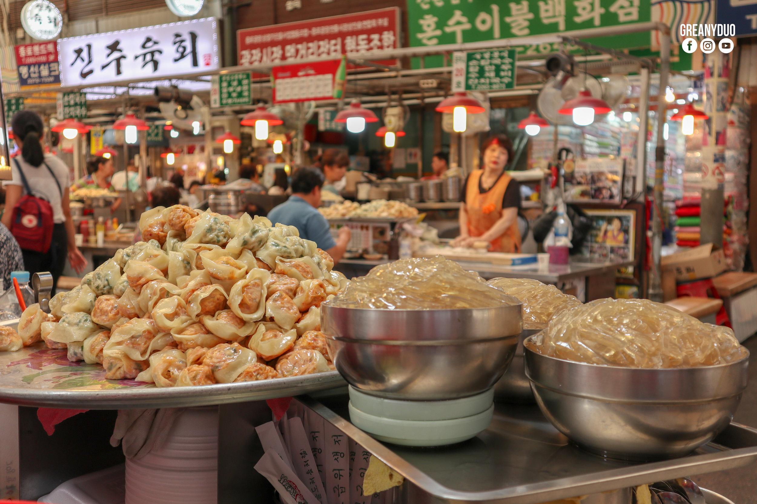korean streetfood,ตลาดกวางจัง (Gwangjang Market)