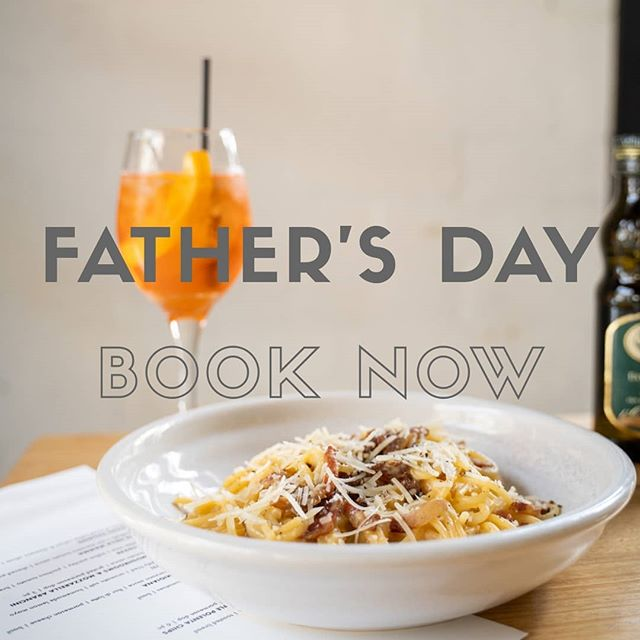 Spoil dad and treat him to some delicious Italian dishes for Sunday lunch! We only have a few tables remaining so book online now and don't miss out! #fathersday