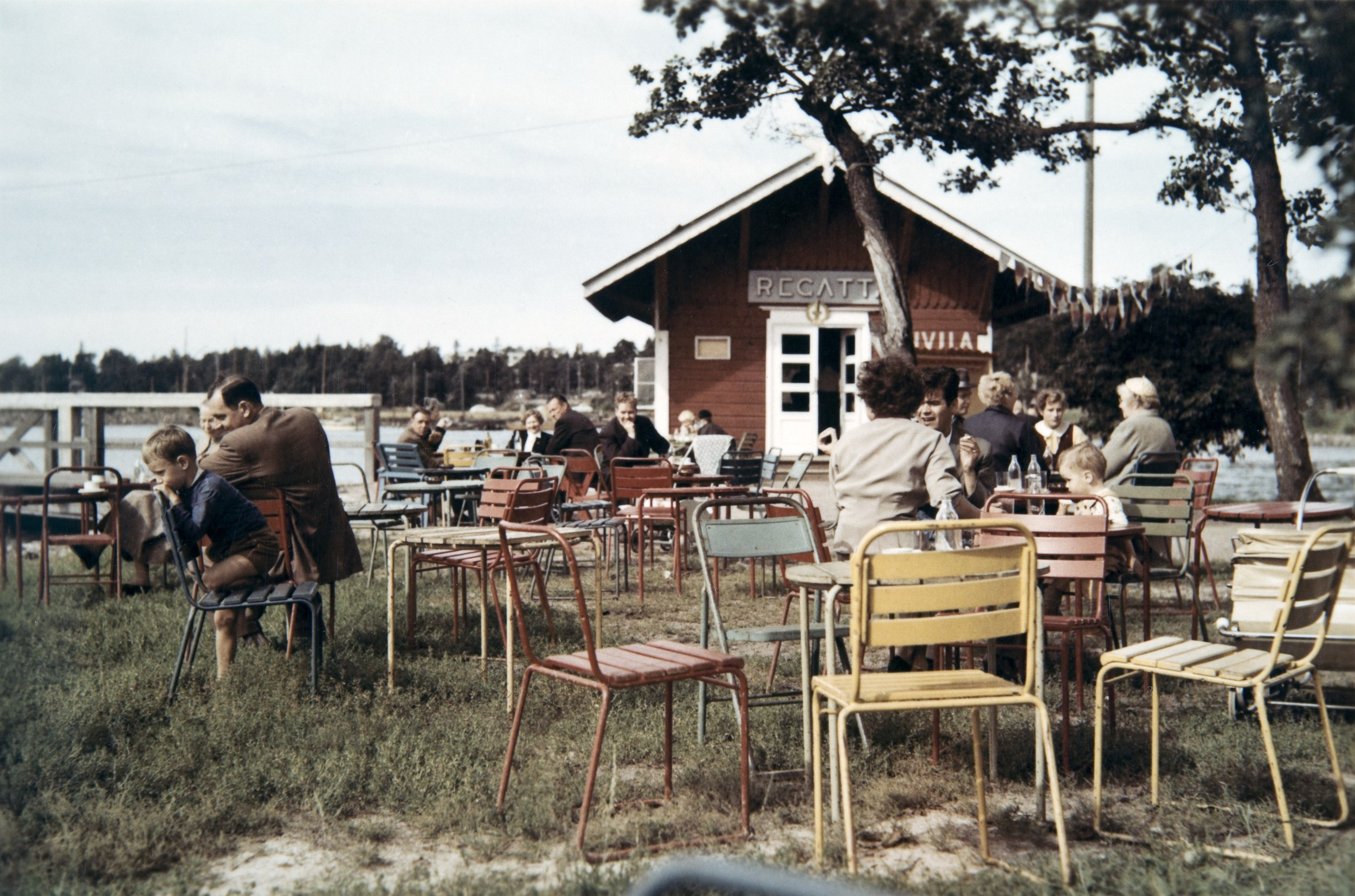 Kahvila Regatta 1950-luvulla. Kuva: Kaarlo Lindberg