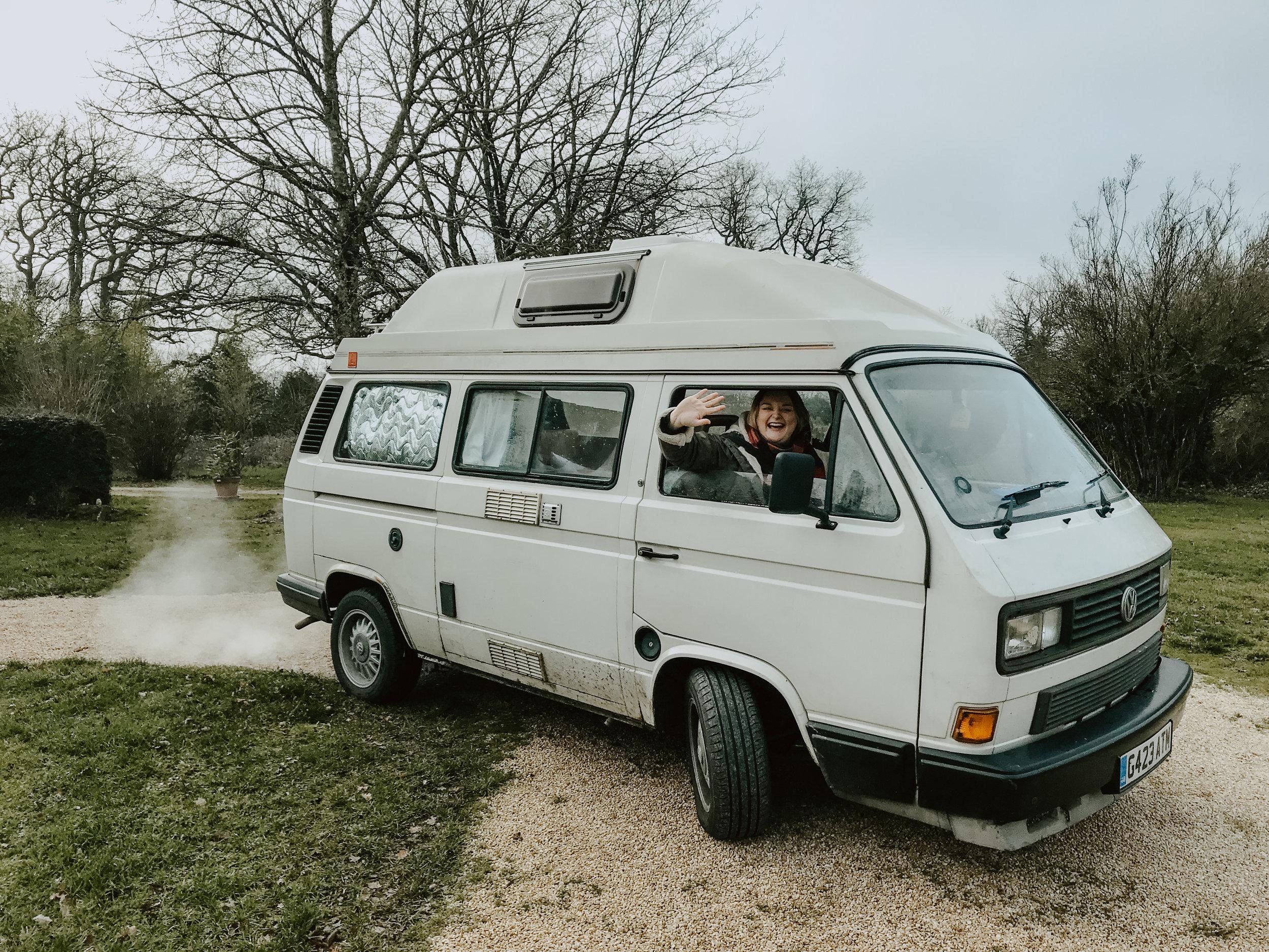 Solo female traveller in a Campervans
