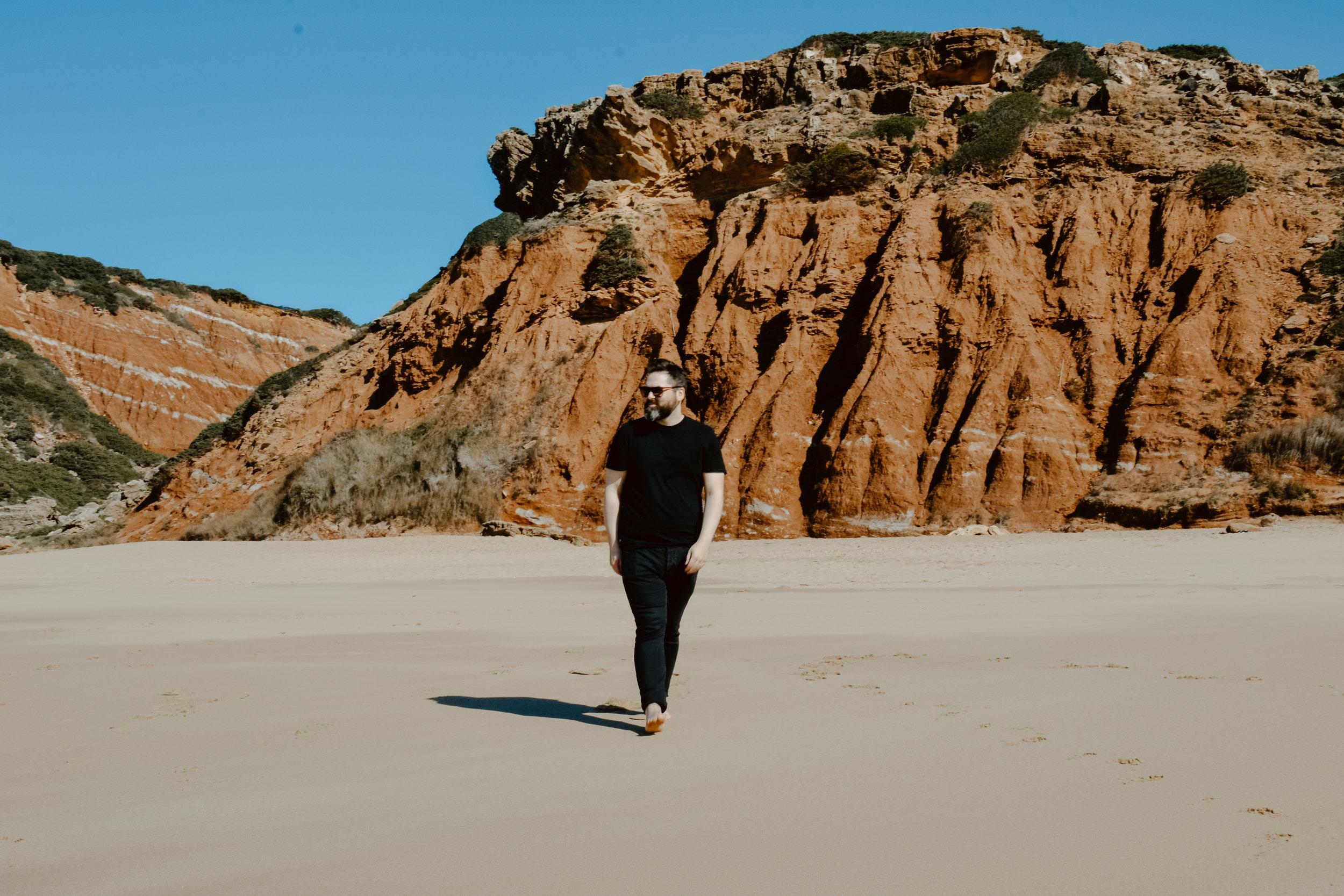 Praia do Telheiro rock formations