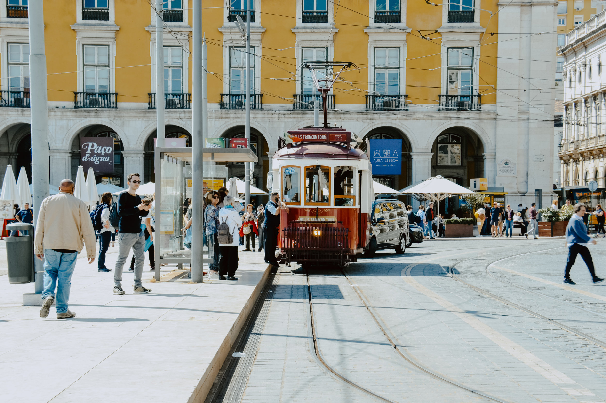 Trams in Lisbon