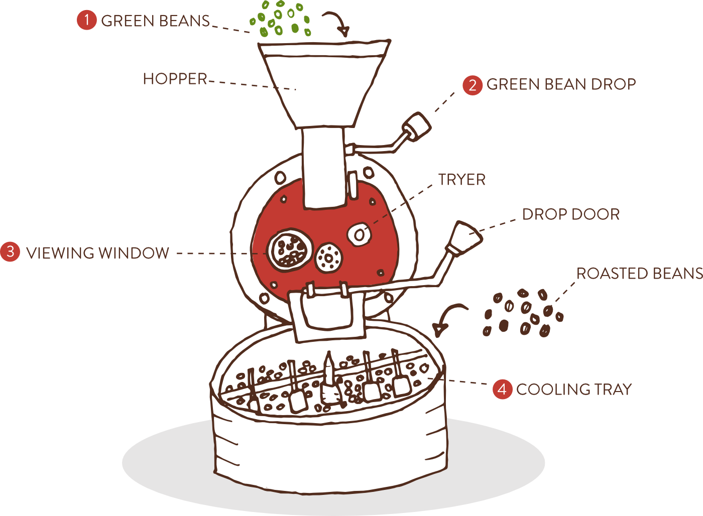 8th and roast, our roasting process