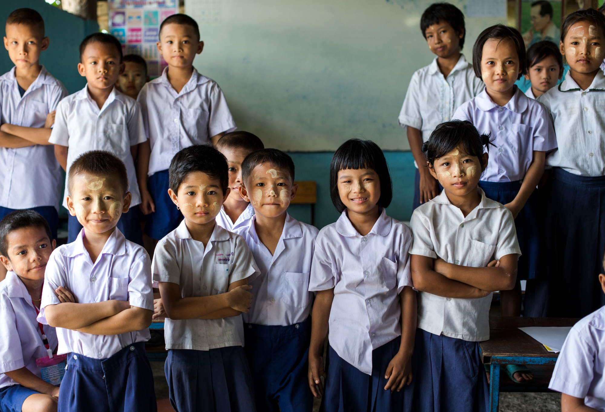 """In Thailand all children have the right to 15 years of free basic education, although there have been many obstacles to enrolment for refugee and migrant children.    Countries that notionally allow access to the national education system for all children often experience a significant """"policy implementation gap"""", meaning that policies aren't enacted at the local level and therefore don't improve outcomes for refugee children.    © Save The Children/Michael Amendolia"""