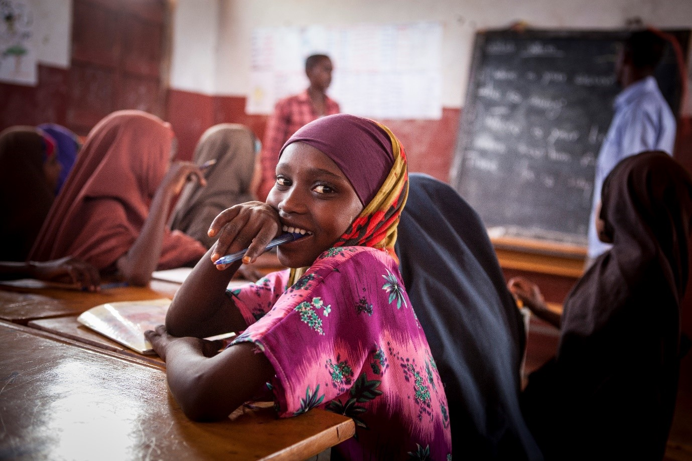 Sawda*, 13, is enrolled in the Alternative Basic Education programme (ABE) for Somali refugees in Ethiopia.       Somalia and Ethiopia are members of IGAD - the Intergovernmental Authority on Development..   © Save The Children/Jonathan Hyams