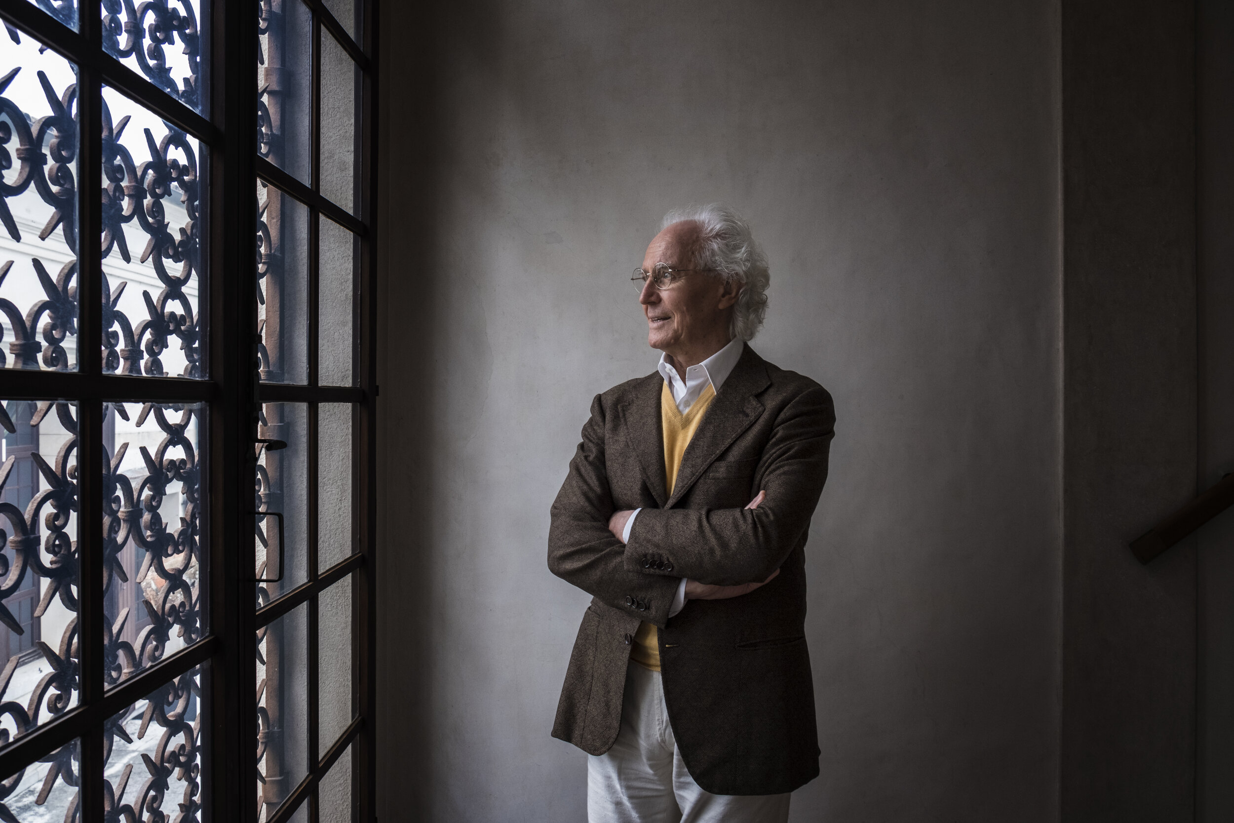 Luciano Benetton, founder at Benetton Group. On assignment for Der Spiegel