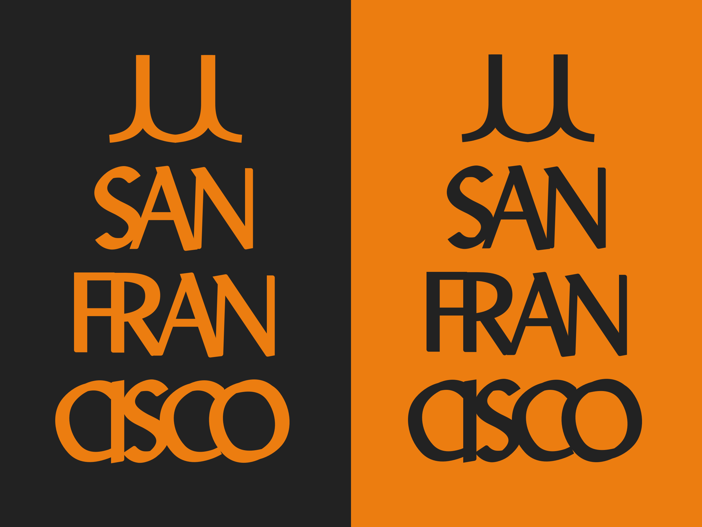 San Fran, with a nod to the golden gate made from J's