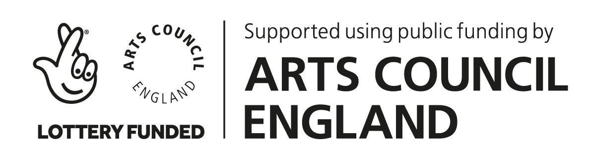 - Supported using public funding by the National Lottery through Arts Council England