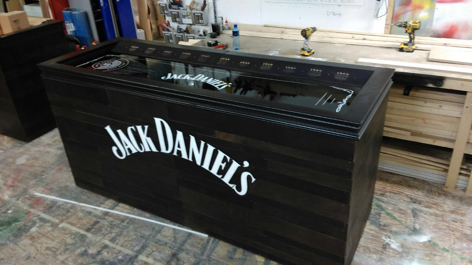 Custom Built Jack Daniel's Bar