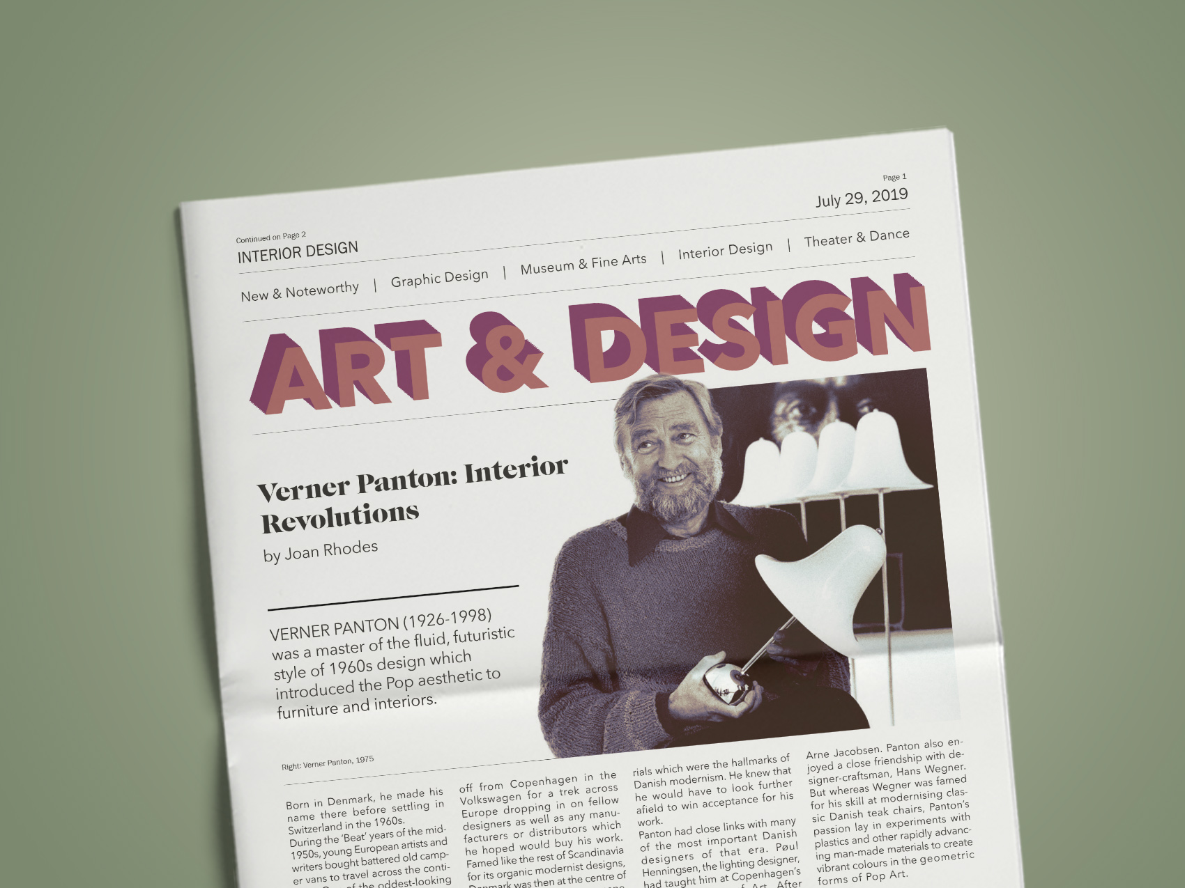 Art & Design News  - A feature on Verner Panton