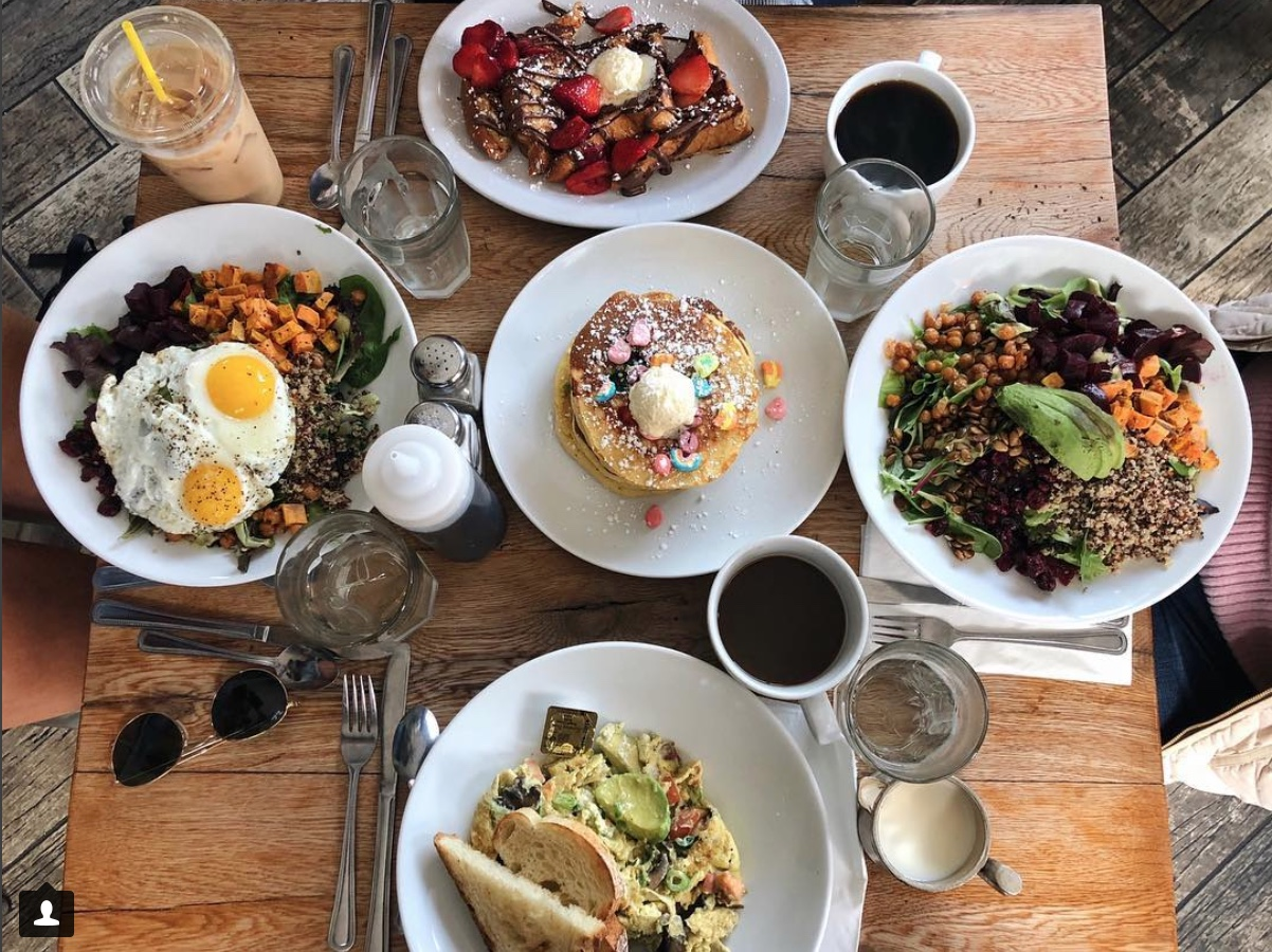 The brunch spread at Milkweed via @ikneadfood