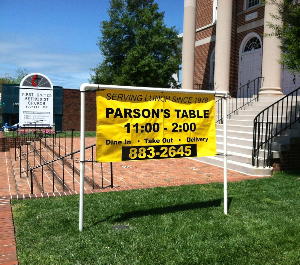 The Parson's Table at the First United Methodist Church. But on Friday, they're coming to The Point!