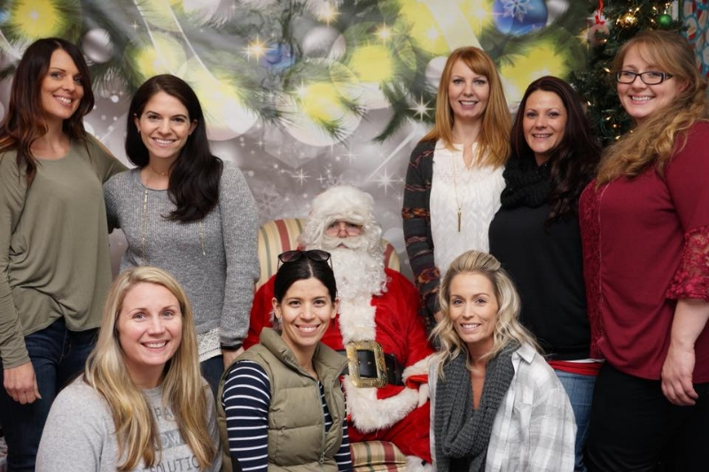 Our 2018 Board with Santa