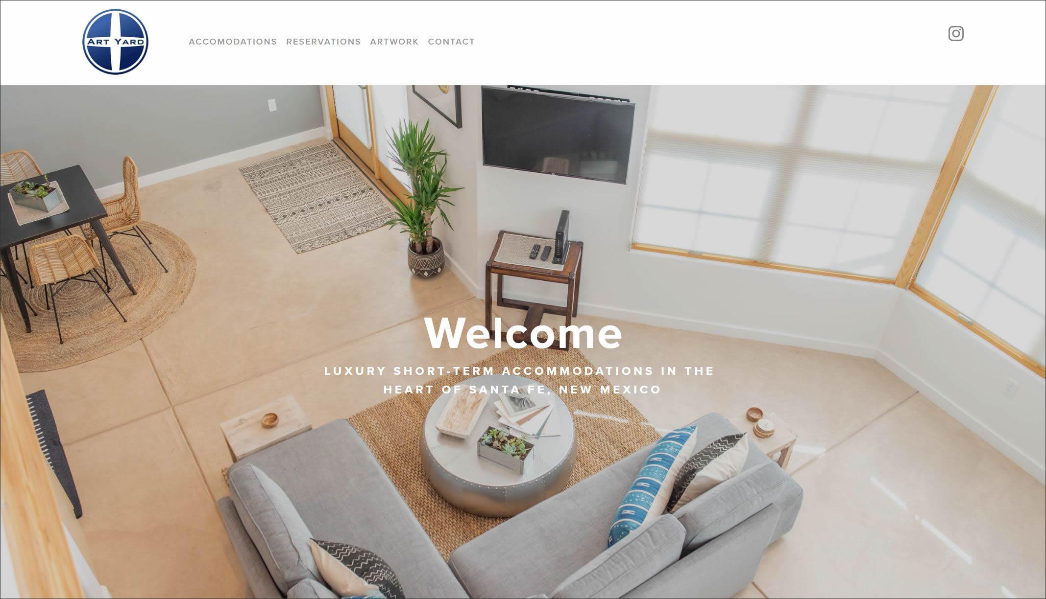 The ArtYard Lofts website