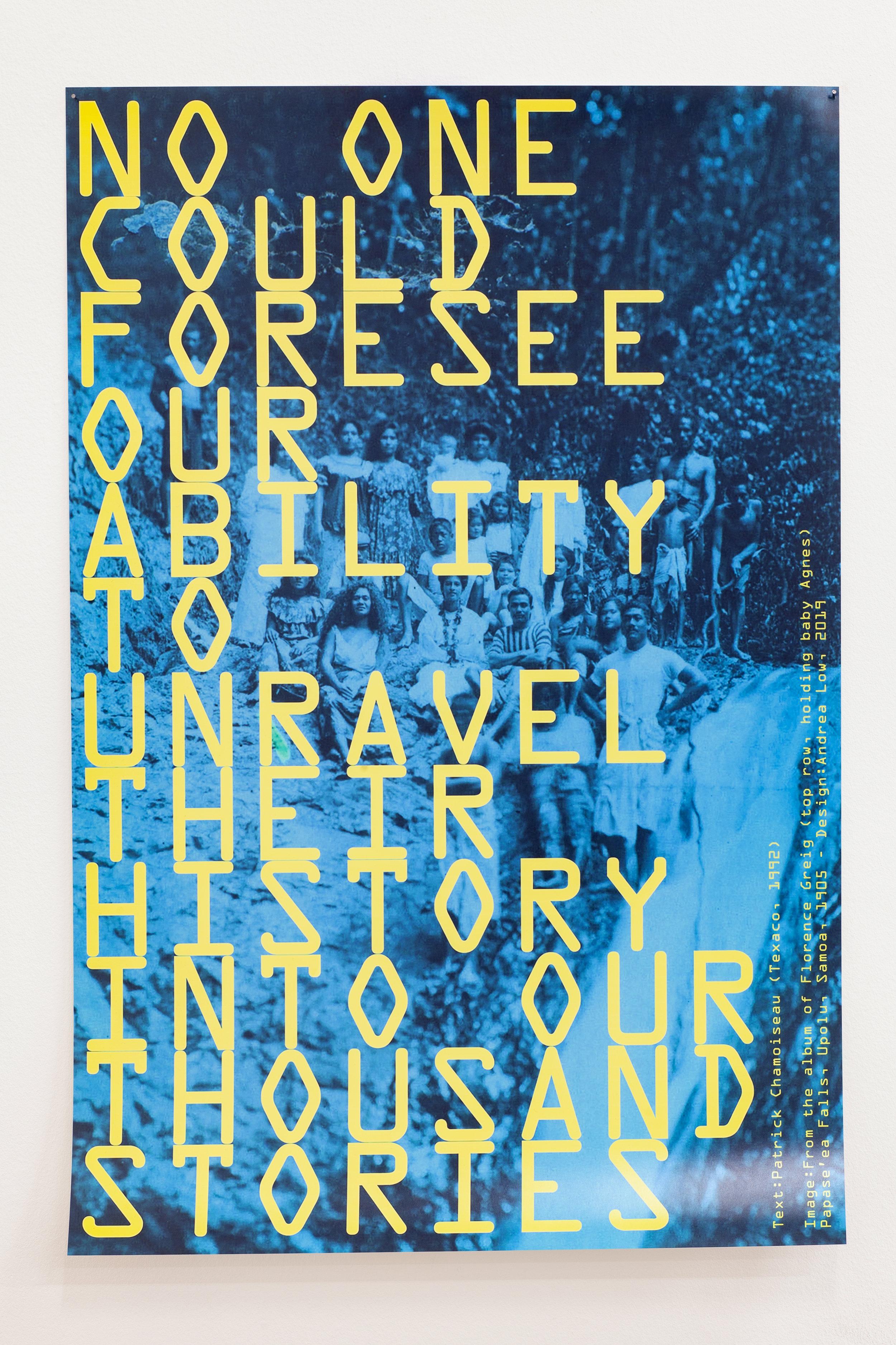 Mo'okῡ'auhau , C-type, Fuji Matte digital print, 420mm x 594mm, 2019, Image: ©2018 Crystal Te Moananui Squares