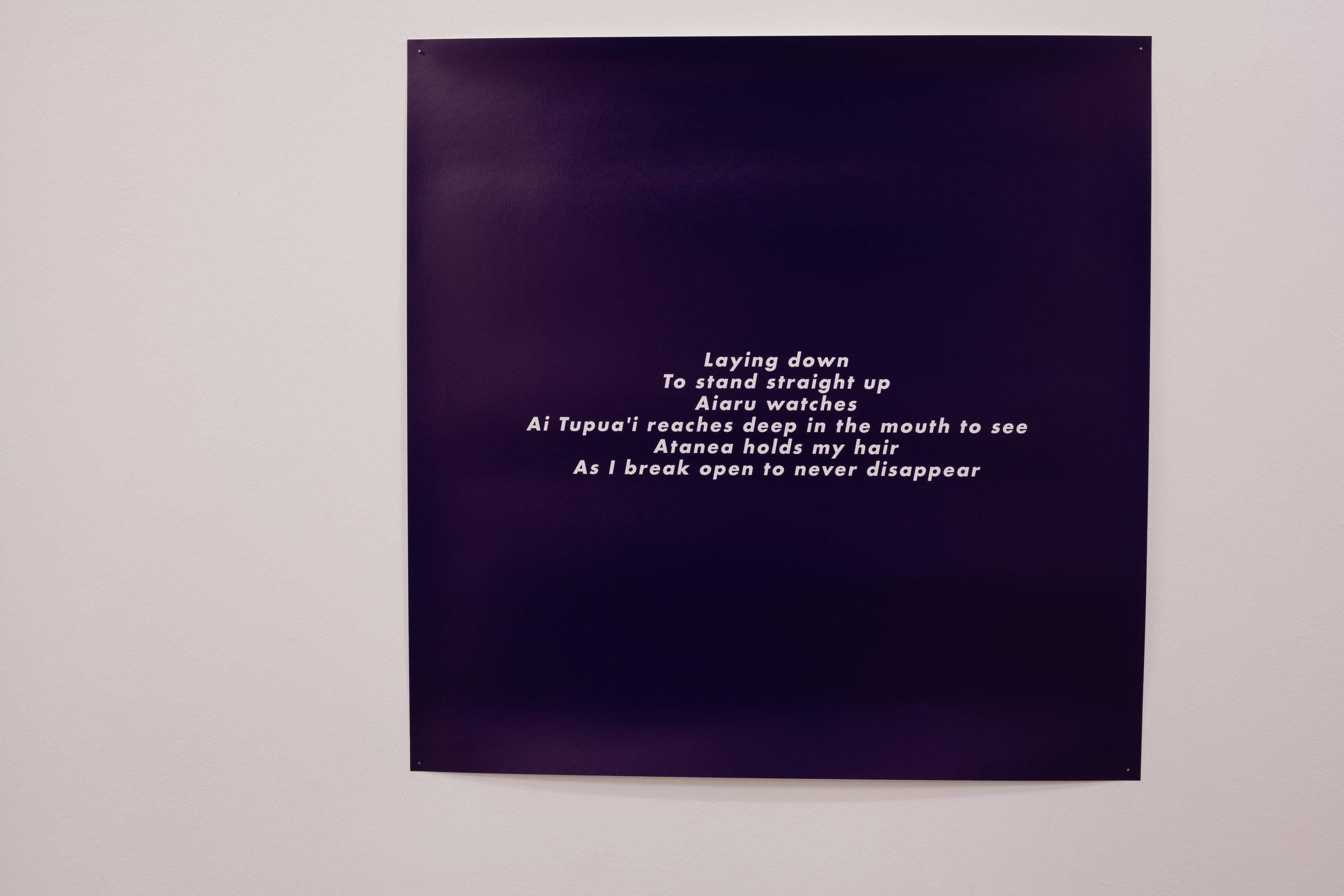 Ama ama tuai i te ahu tapu,  Giclee print on Hahnemühle Pearl, 814mm x 814mm, 2019 Image: ©2018 Crystal Te Moananui Squares