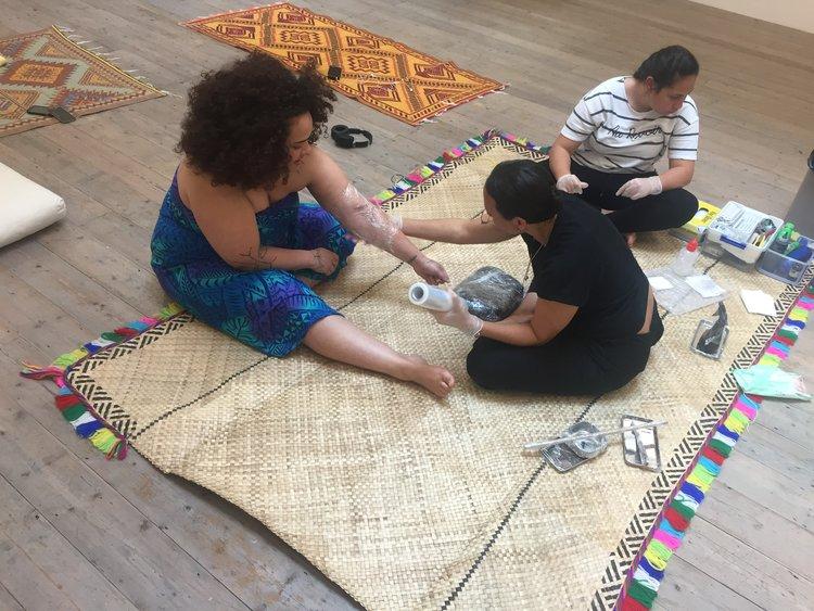 Melanisian Marks - Revival Through Practice Residency at Moku HQ , 2018 Image: Ahilapalapa Rands