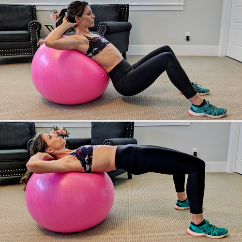 Stability Ball Hip Thrusters