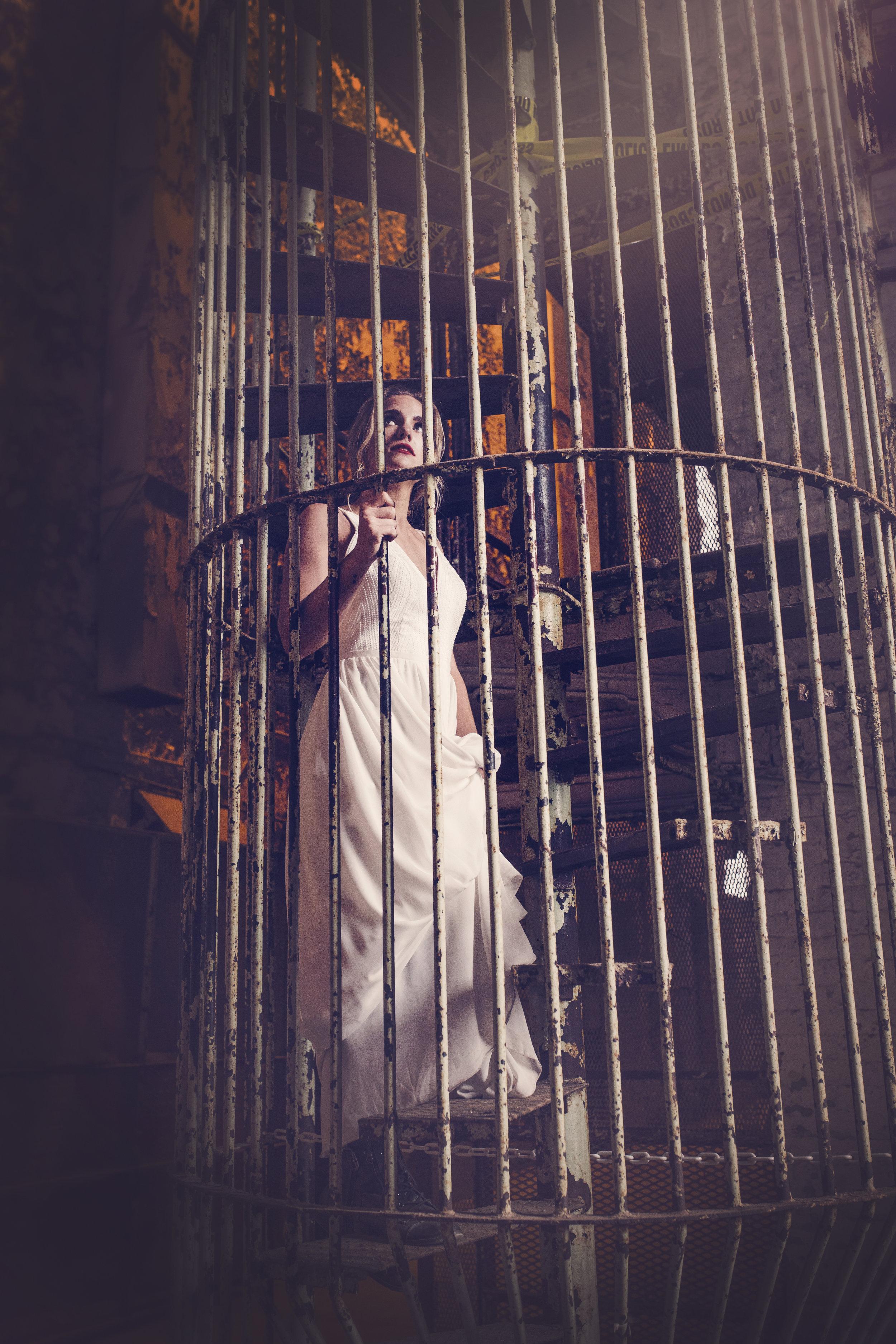 perception art studio, shawshank redemption, bride, prison, wedding gown
