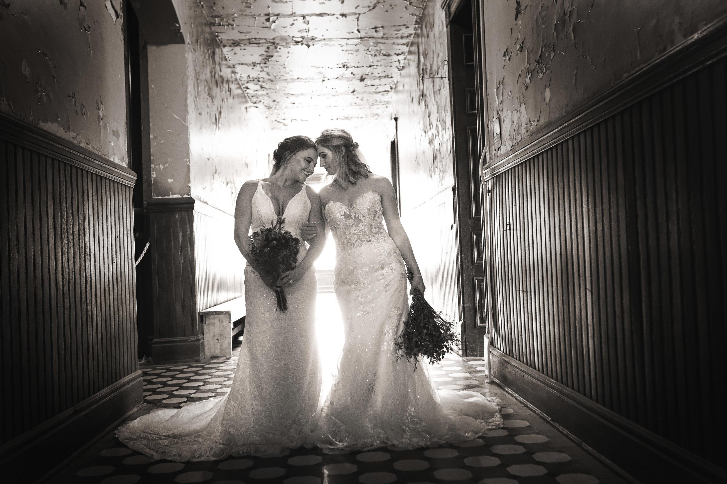 SAME SEX WEDDING, TWO BRIDES, SHAWSHANK PRISON, CINCINNATI BRIDES