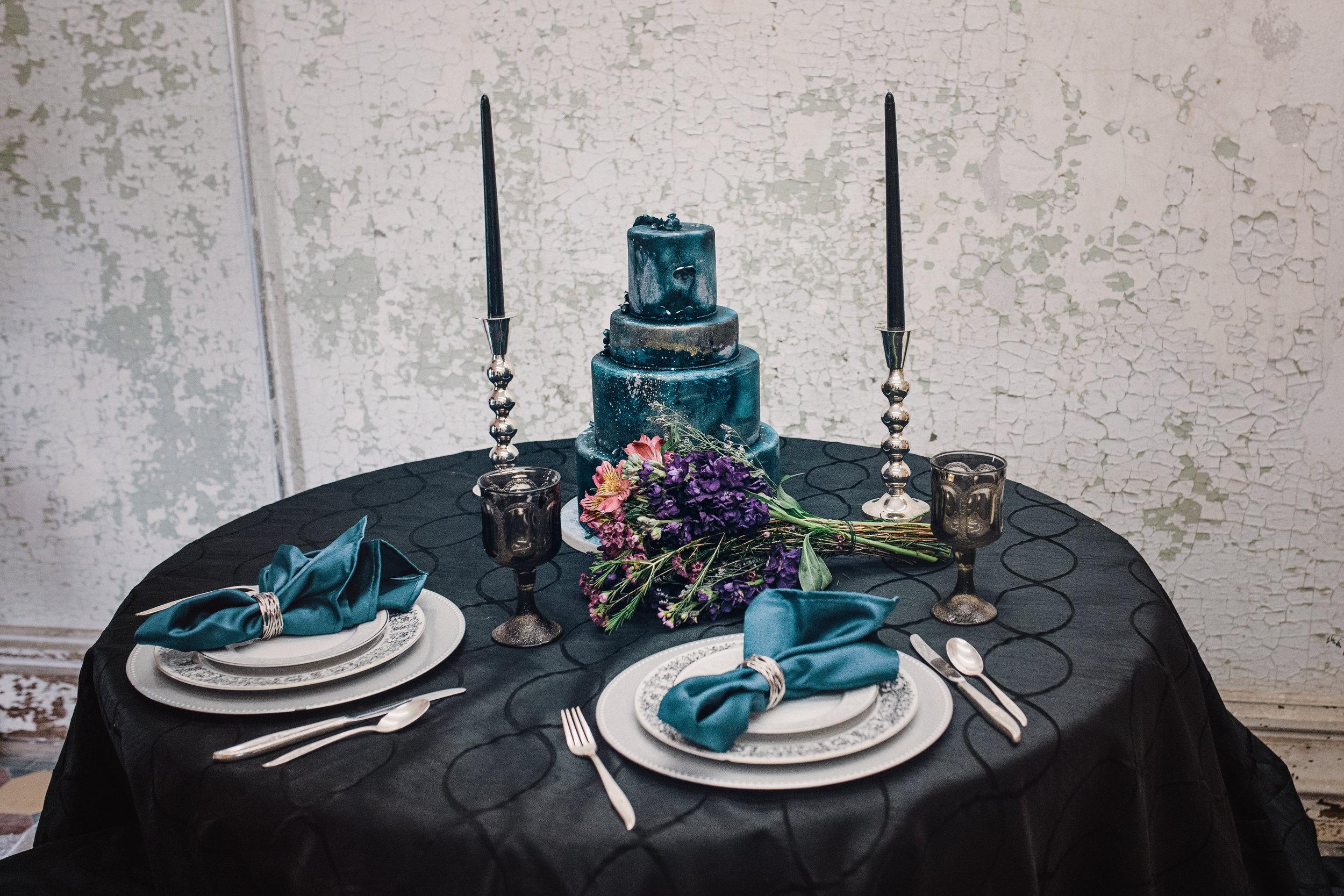 dark blue wedding cake, moon child, prison shoot
