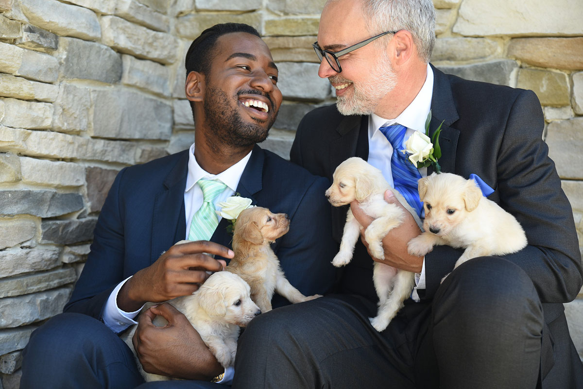 ALFRED + ADAM WITH LABRADOODLE CUTIES | JENFOLIO PHOTOGRAPHY | CLICK THE PHOTO TO SEE THE FEATURE ON EQUALLY WED!