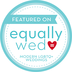 gay weddings cincinnati - same sex wedding - blue and green wedding