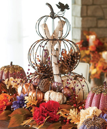 Lighted Stacked Wire Pumpkins by Improvements   Fall Decor - $50 online