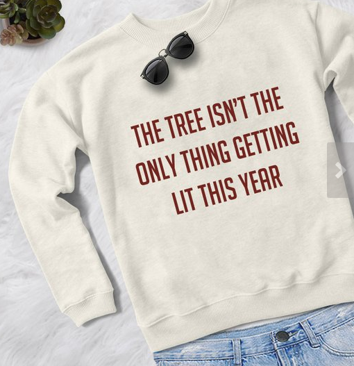 Funny Christmas sweater tshirt sweatshirt gift for women jumper pullover Lit shirt ugly tacky christmas sweater | $24.30