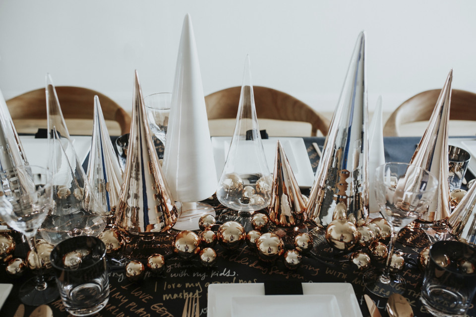 Holiday Tablescape Inspiration via CB2