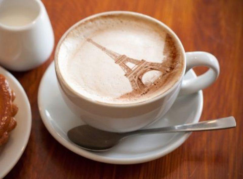 Eiffel Tower Latte Art found on Pinterest