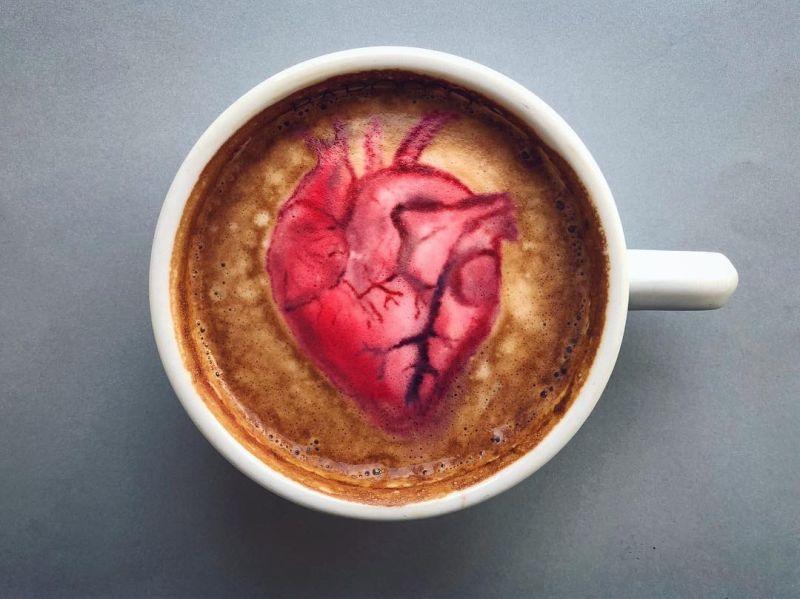 Human Heart Latte Art by @baristabrian