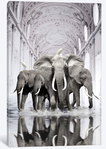 iCanvas - Canvas - Strong Herd  Strong Herd byStéphanie Paquotcanvas art arrives ready to hang, with hanging accessories included and no additional framing required. Every canvas print is hand-crafted in the USA, made on-demand at iCanvas and expertly stretched around 100% North American Pine wood stretcher bars. We only use industry leading archival UltraChrome® Giclée inks to achieve the most vivid and high-definition prints possible.