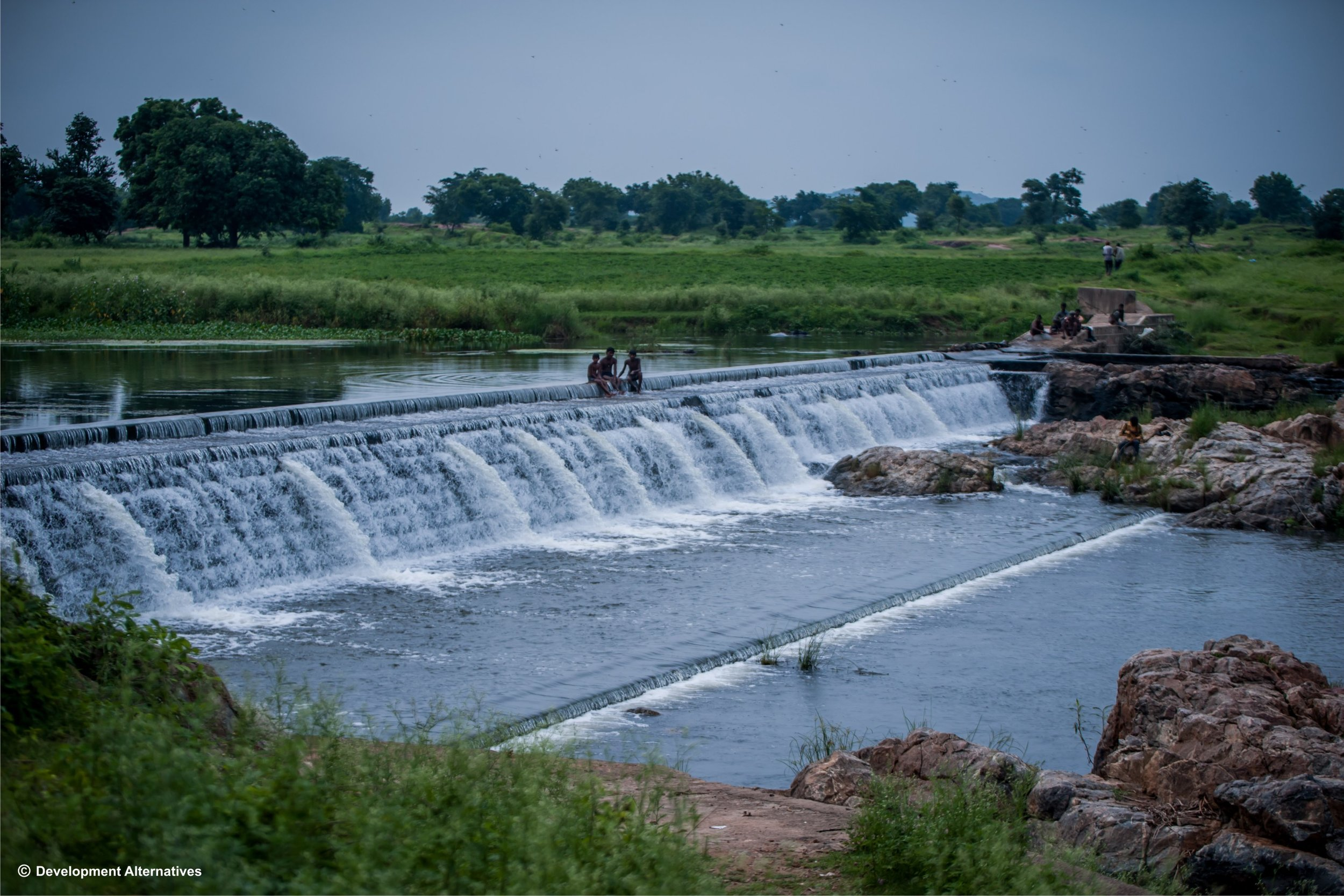 Sustainable harvesting of water through check dams.JPG