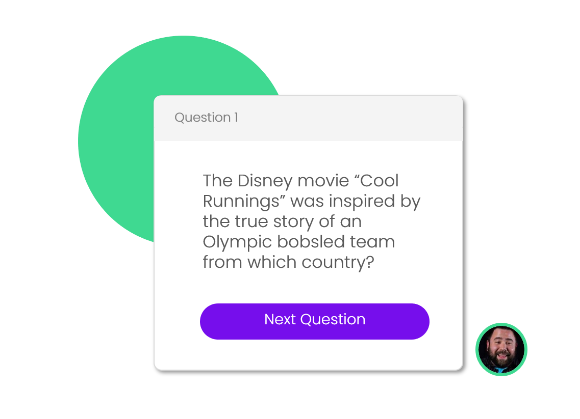 Question Display - Allow players to see all questions by using your laptop to display them on a TV or projector at any of your locations. It's as simple as plug-and-play.